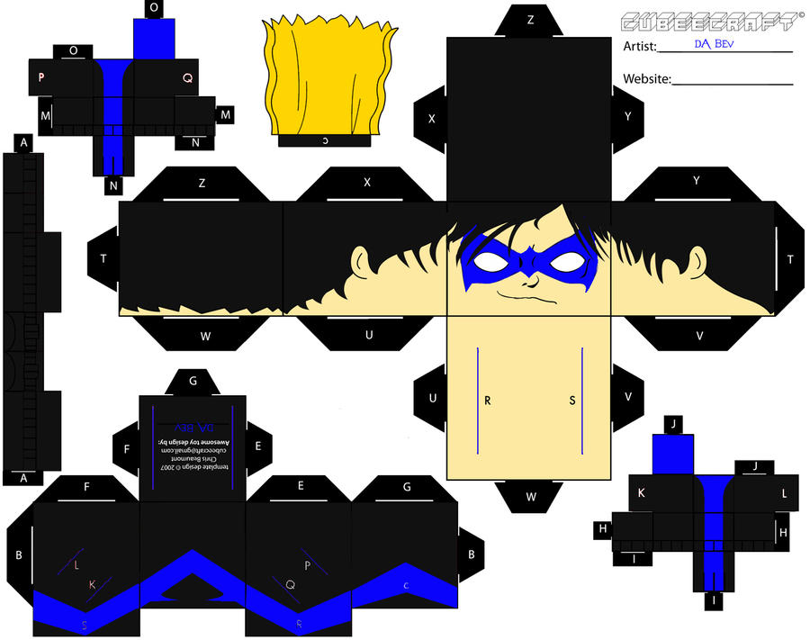 wallpaper craft batman: Nightwing Cubee By Da-BEv On DeviantArt