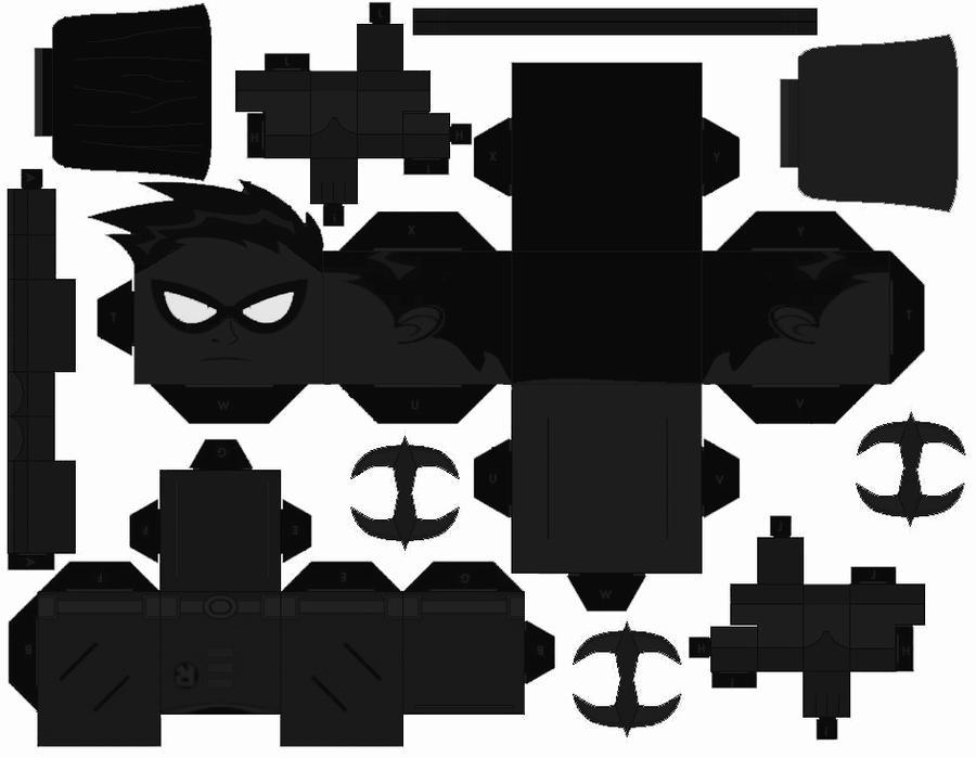 Teen Titans Black Robin Cubee by Da-BEv