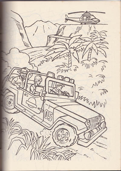 jurassic park artwork by jurassic park jeep coloring pages. jurassic ...