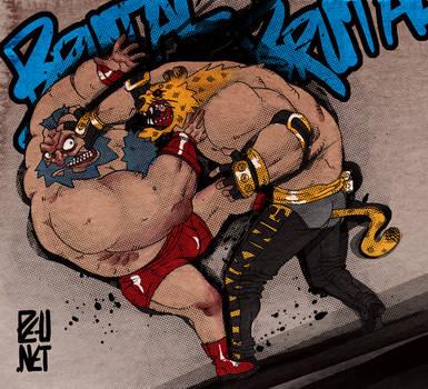 Zangief vs King by Pe-u