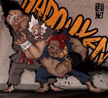 Akuma vs heihachi by Pe-u