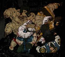 Kratos vs mortal kombat by Pe-u