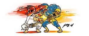 Xmen vs Street fighter by Pe-u