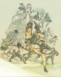 ninjas vs mutants by Pe-u