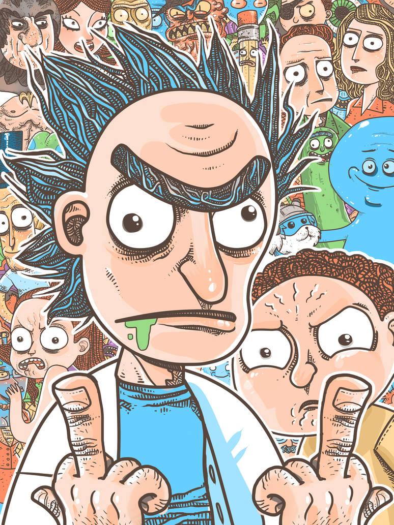 Rick e Morty by Pe-u
