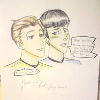 Spock n Kirk funny moment by Idigoddpairings