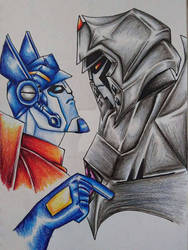 Optimus tells Megatron off...clearly not working
