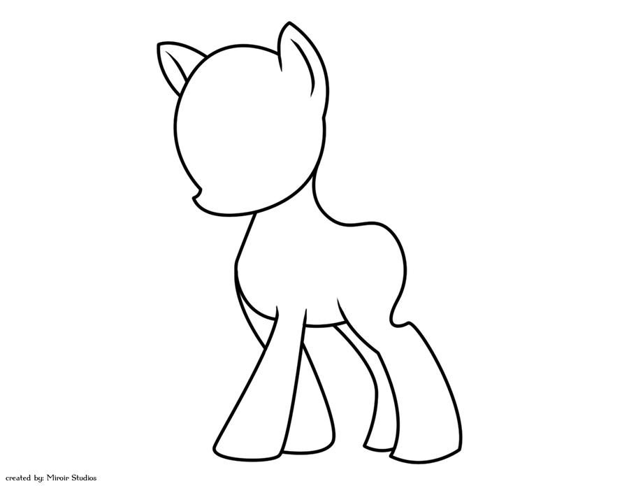 Blank MLP G4 Lineart By StrawberrySoulReaper On DeviantArt