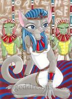 Egyptian Cat Princess by cageddreams