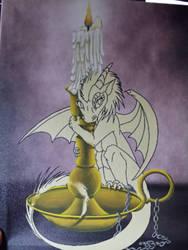 Candle Dragon WIP by cageddreams