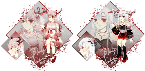 [OPEN] Bloody Sakura #2 #3 AUCTION by RyneRin-Adopt