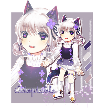 [OPEN] $11 Lavender Flower (AUCTION) by RyneRin-Adopt