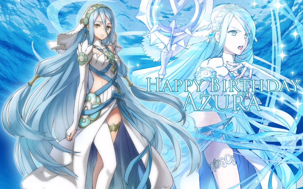 Happy Birthday Azura Fire Emblem Fates By Blueblur1207 On