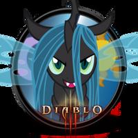 MLP Icon - Diablo 3 w/ Queen Chrysalis by Gefey