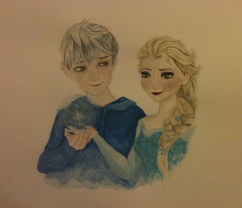 Jack Frost + Elsa by sofeazlan