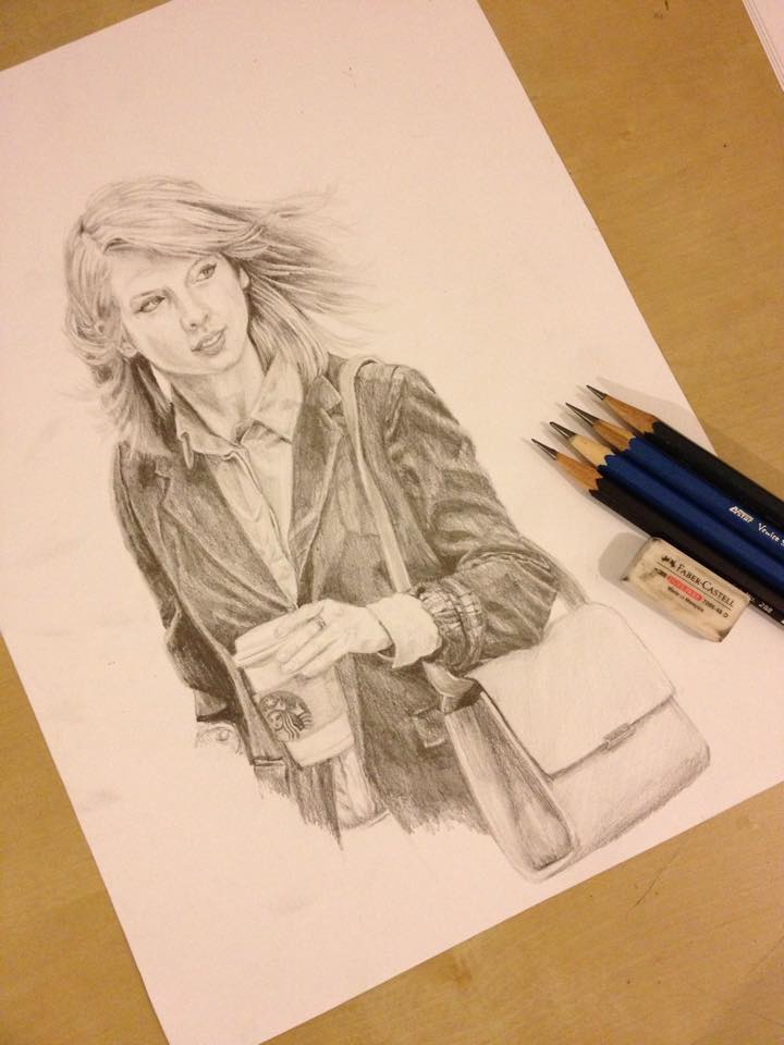 Taylor Swift Pencil Sketch by sofeazlan