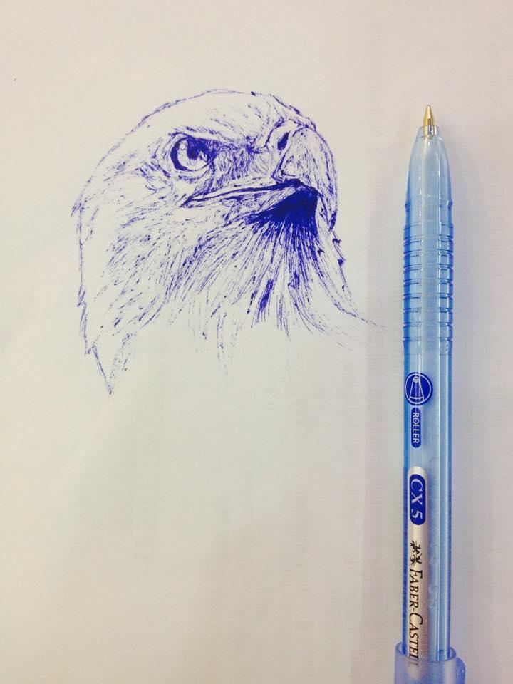 Eagle Pen Sketch by sofeazlan