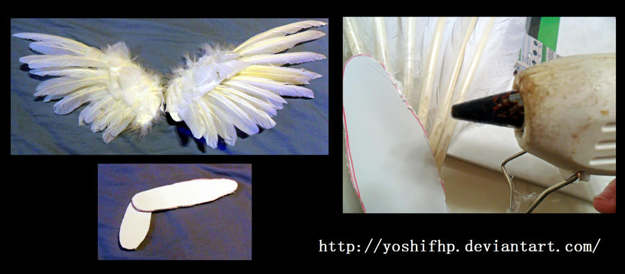 How to make: Feather Angel Wings by YoshiFHP