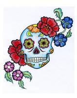 Sugar skull by An-i-ka