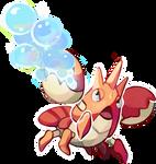 Corphish use Bubblbeam! by Yusiso