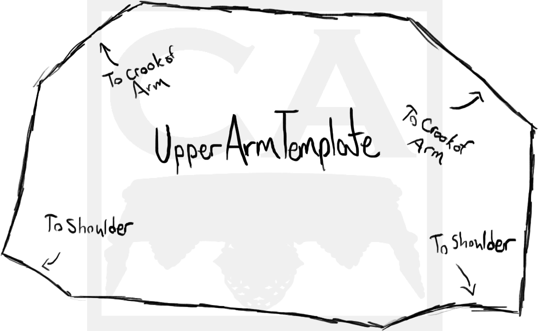 Forearm Template: Upper Arm Template By Traumagician On DeviantArt