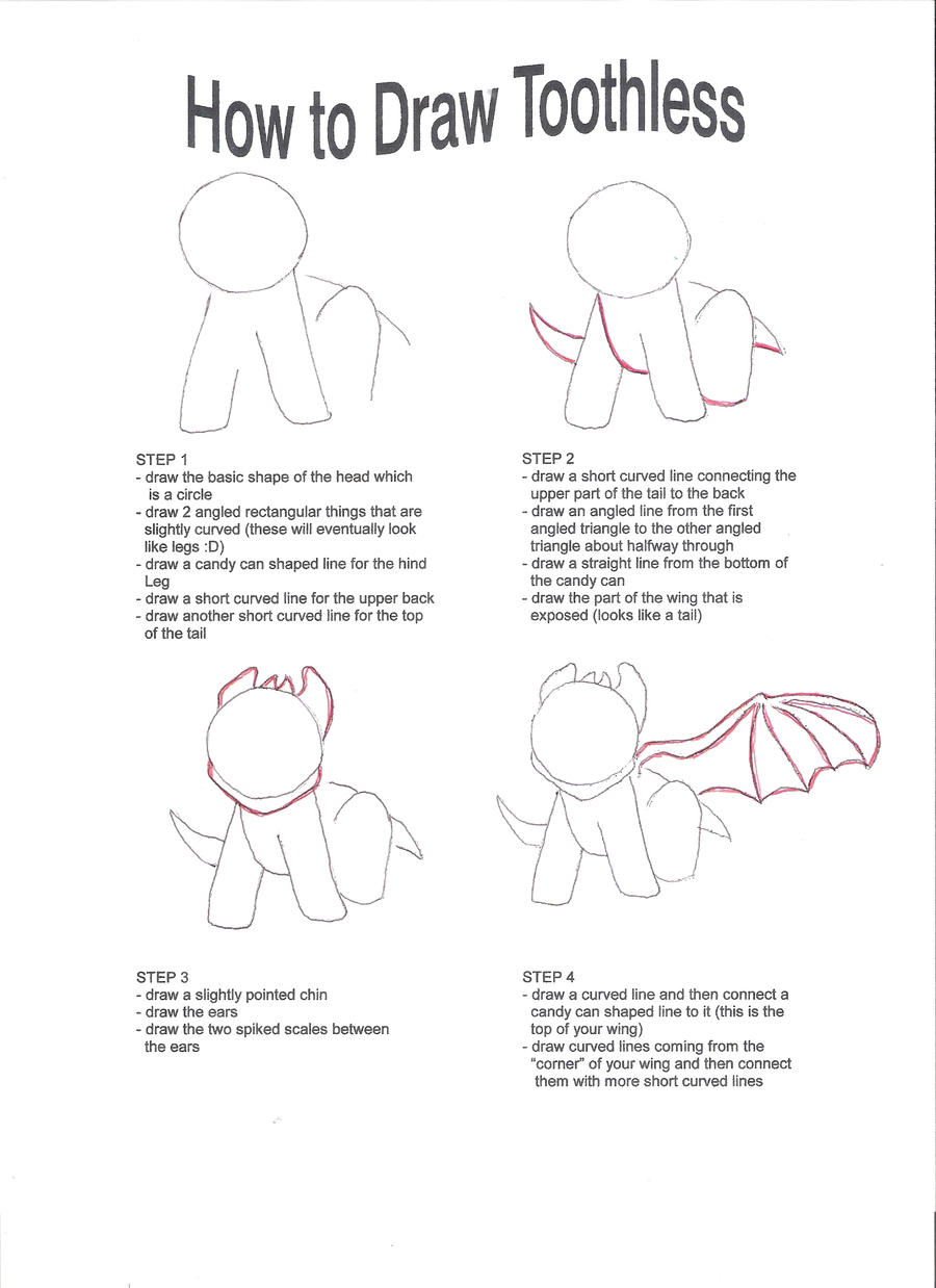 how to draw baby toothless step by step
