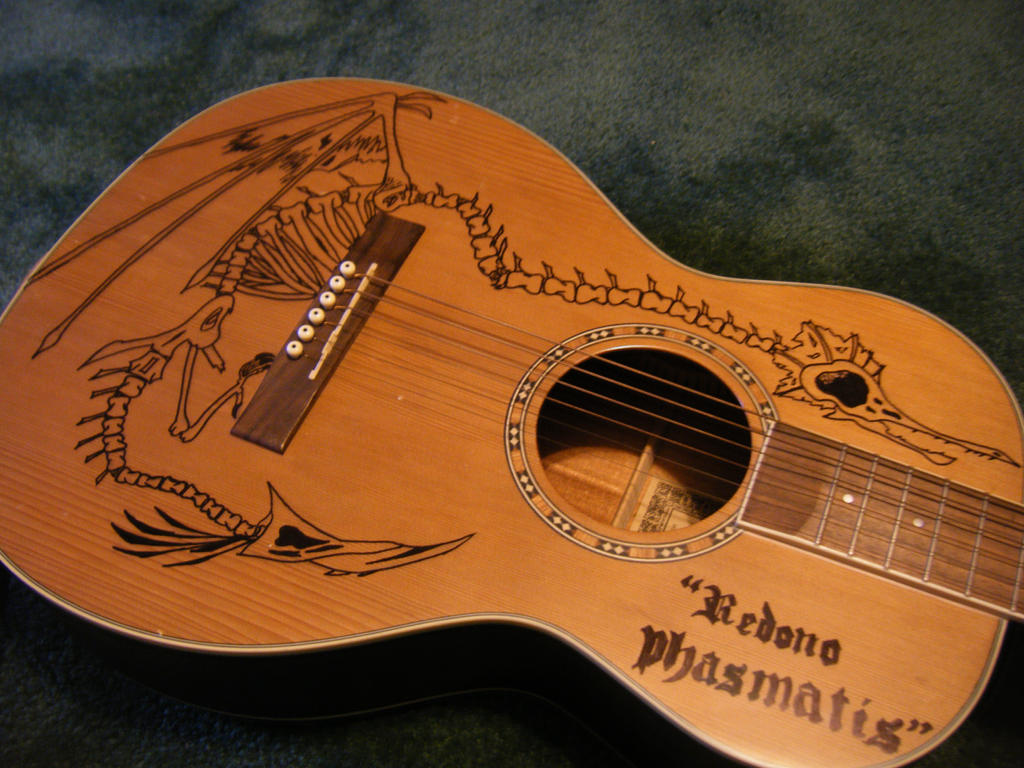 My acoustic guitar by papaiviidnight on deviantart for Acoustic guitar decoration