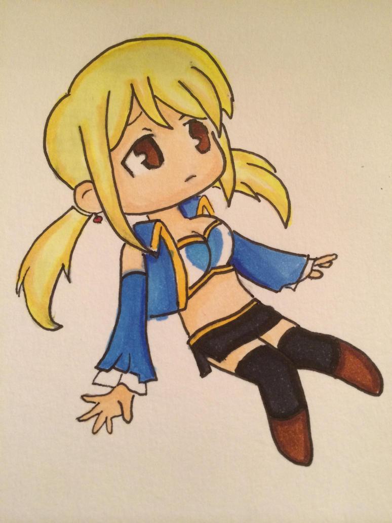 Lucy Heartfilia Chibi by JuviaLockser17
