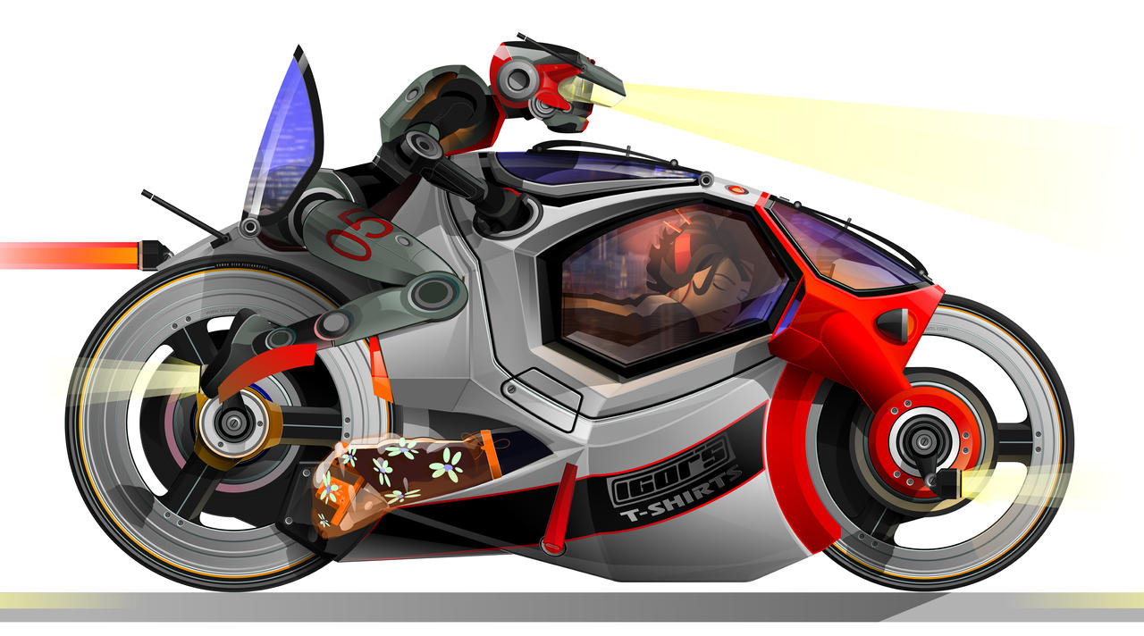 vector droid bike by igorstshirts