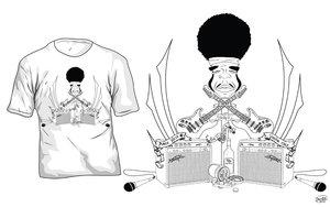 Jimi Hendrix T Shirt by Club-Vector