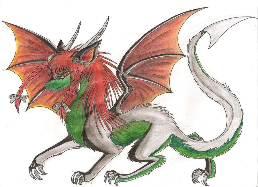 Dessin et Cosplay~ Vanilla Rin____dragon___by_myusuran_blackwolf-d4tyw7n
