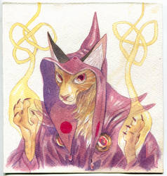 warlock cat by Bard-the-zombie