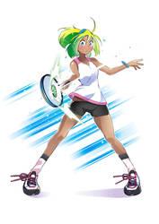 Tennis girl by Jowa