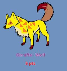 Girraffe - Wolf Adopt by R-o-c-k-h-e-a-r-t