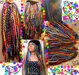 Rainbow Yarn falls 1 by dollsyndrome