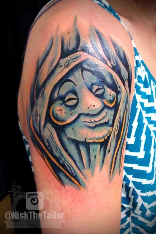 Grandmother willow disney pocahontas tattoo by for Art machine productions tattoo