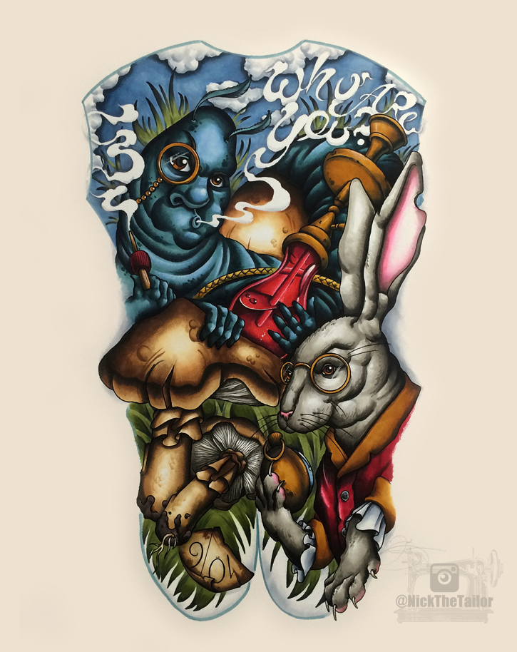 Alice In Wonderland Tattoo Sleeve Design Images amp Pictures