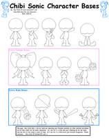 Sonic Chibi Bases by Sky-Yoshi
