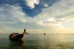 Longtail Boat on the Ao Nang Sea, Thailand