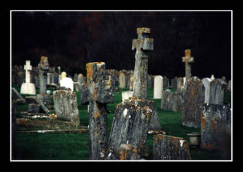 Corfe Graveyard by piccadillycircus