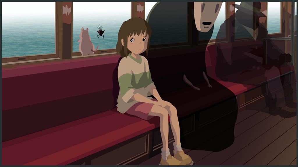 spirited away chihiro and noface by judan on deviantart