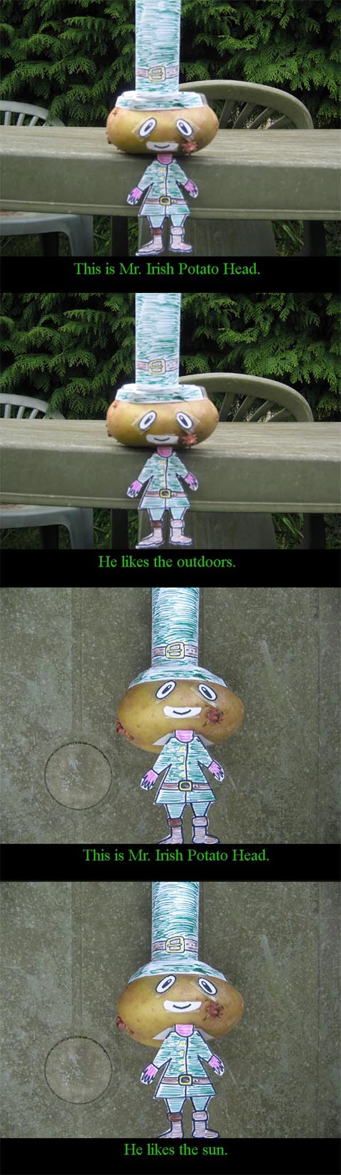 This is Mr. Irish Potato Head by Judan
