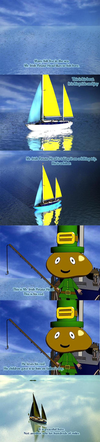 Mr. Irish Potato Head at Sea2 by Judan