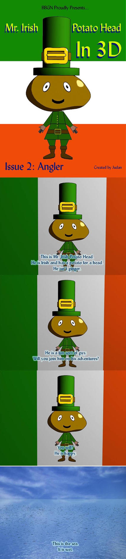 Mr. Irish Potato Head at Sea by Judan