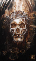 Skull with crown of thorns by Zsil-works