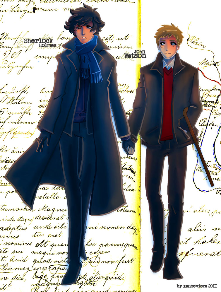 Sherlock+ flatmate by xanseviera