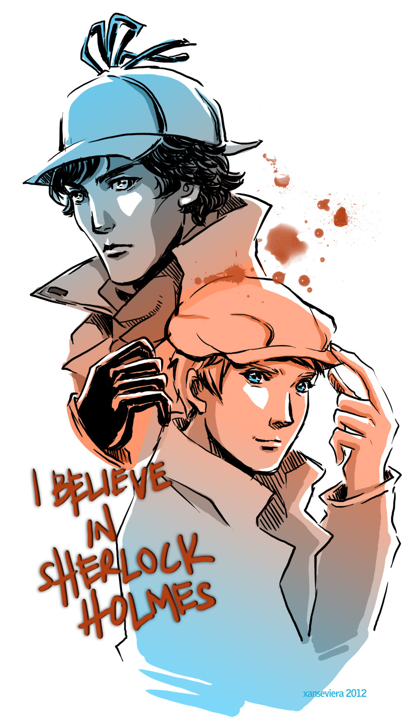 Sherlock+hatman and robin by xanseviera
