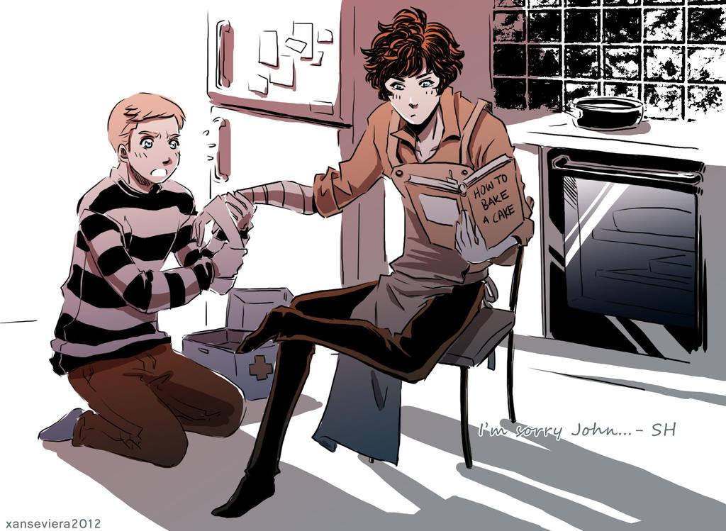 Sherlock+cake by xanseviera