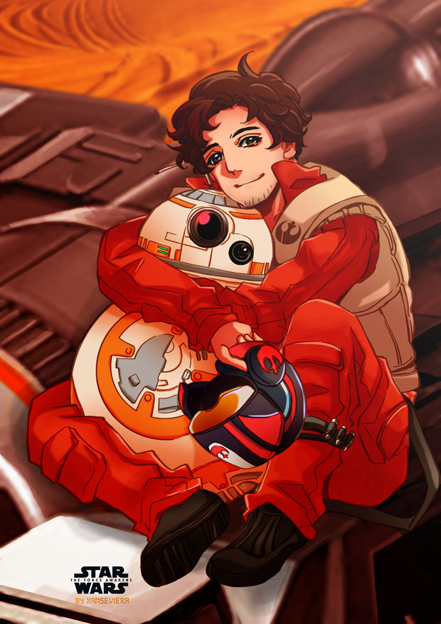 My little droid+Poe Dameron by xanseviera