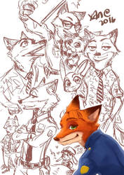 Zootopia+Nick Wilde by xanseviera